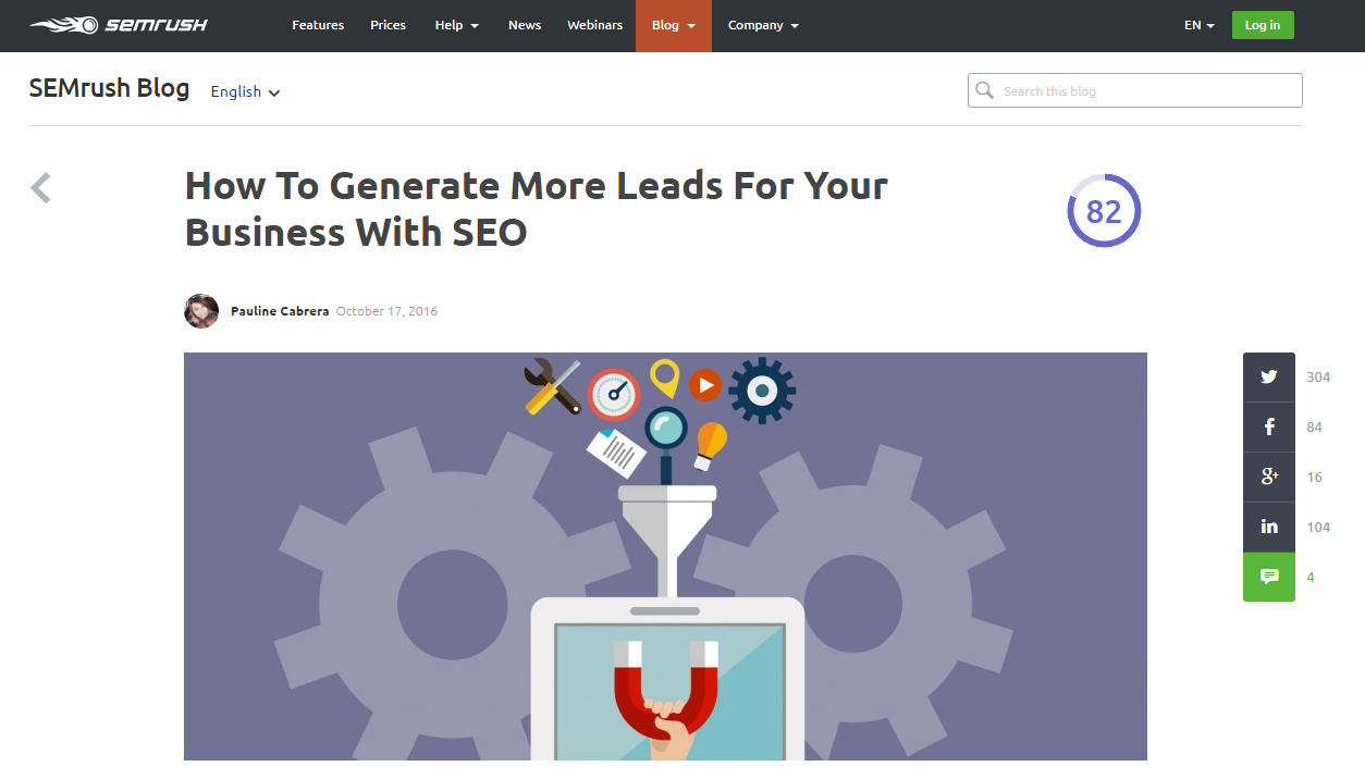 how to generate leads with SEO