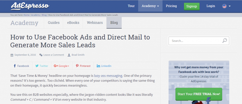 how to generate more leads with facebook and direct mail