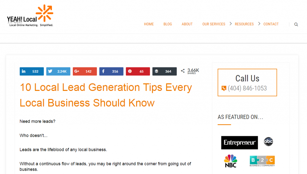 how to generate leads for local businesses
